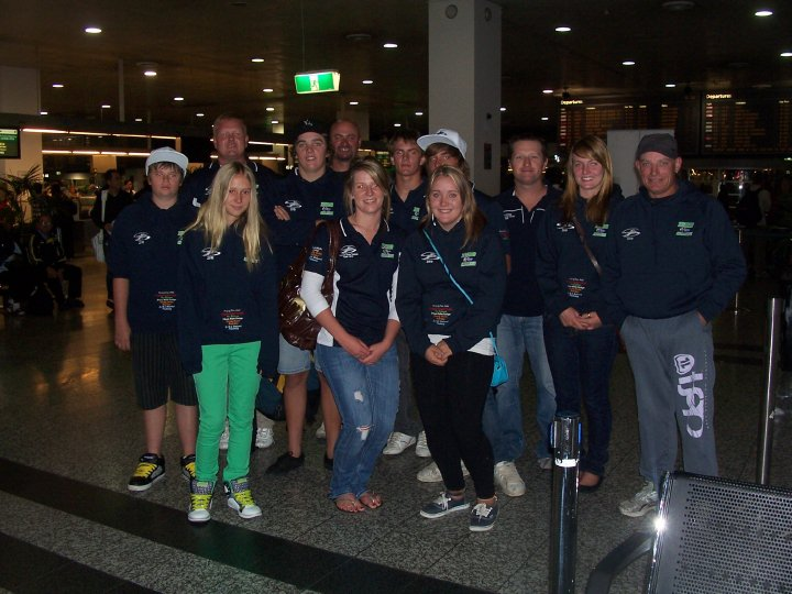 Tasman Team at Airport