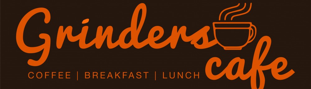 Grinders Cafe_Logo (Brown Background)
