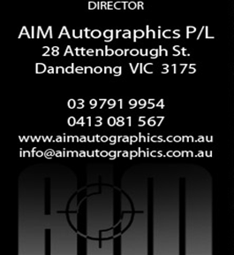 Aim Autographics logo