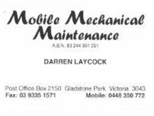 Mobile Mechanical Maintenance logo