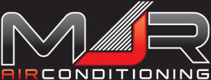 MJR Airconditioning new logo black background